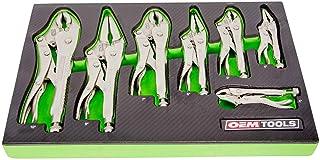 OEMTOOLS 23987 Locking Pliers Set, 7 Piece Locking Welding Pliers Set, Stabilize Work Pieces for Welding and Mechanical Wo...