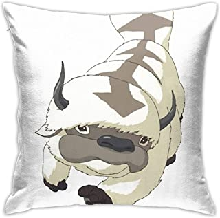 JACHE Appa Sky Bison Japanese Anime Flying The Last Airbender Avatar Decorative Throw Pillow Covers for Sofa Couch Cushion Pillow Cases 18x18 Inch