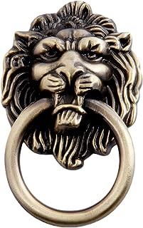 5pcs Antique Bronze Lion Head Pulls for Dresser, Drawer, Cabinet, Door Handles Knobs (1.65x2.64 Inch)