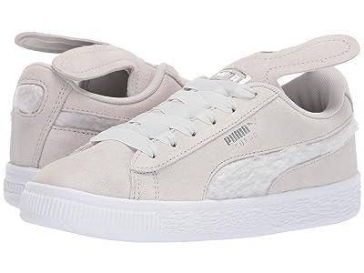 Puma Kids Suede Bunny Slip-On (Little Kid) (Glacier Gray/Coral Cloud) Girls Shoes