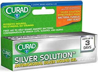 Curad Silver Solution Antimicrobial Gel 0.50 oz (Pack of 3)
