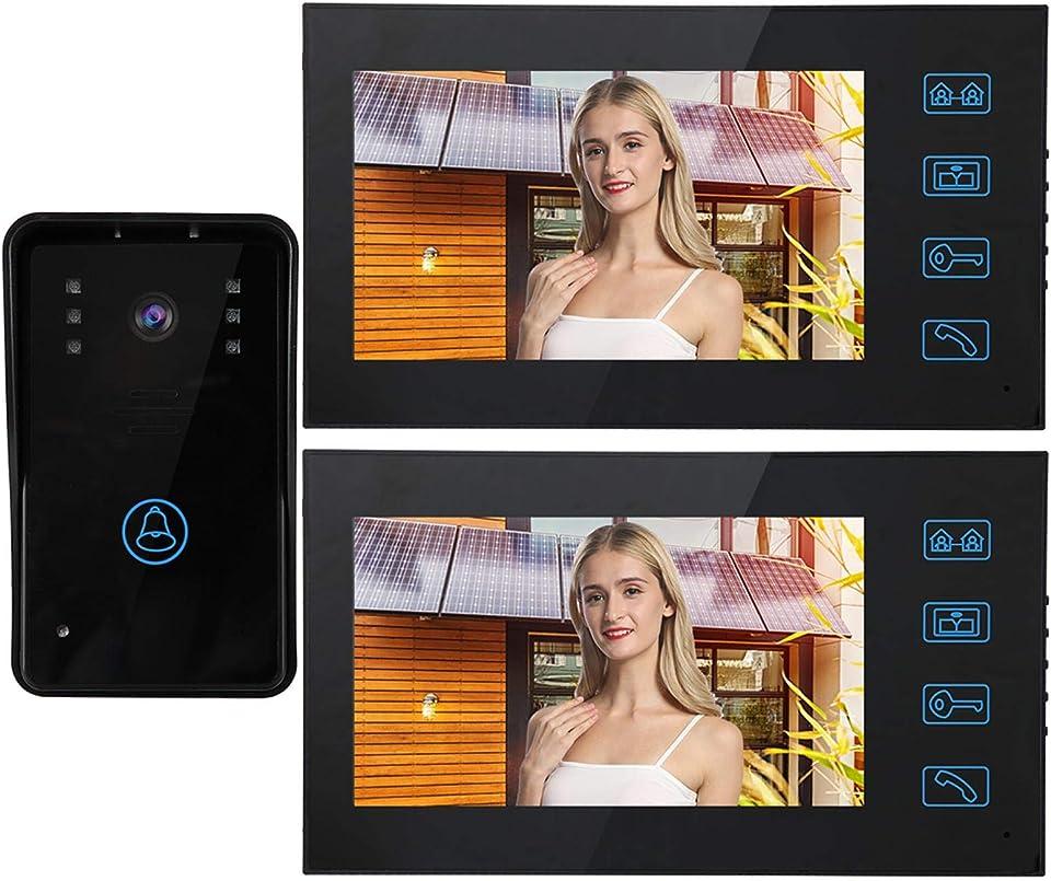 mit 2 Monitoren Intercom Türklingel Türkamera Touchscreen, für Zugang Türklingelsystem, für die Sicherheit zu(European regulations)