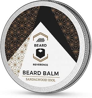 Sandalwood Beard Balm enhanced with Tea Tree & Argan & Jojoba Oils – All Natural Sandalwood Scent Beard Butter - Shape, Style, Soften & Condition Beards and Mustaches