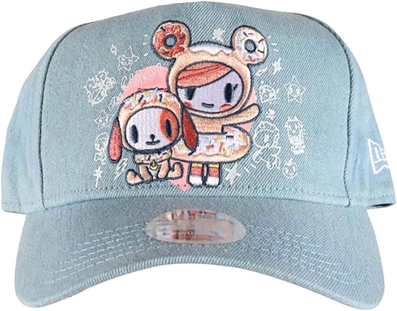 Tokidoki Embroidered Donut New Era 9Forty Women's bluee Denim Snapback Hat OSFM