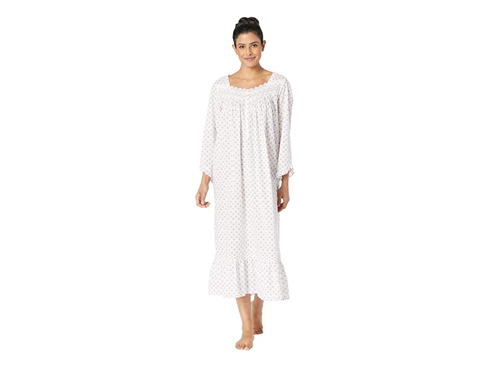 Eileen West Ballet Long Sleeve Nightgown (White Lilac Floral Dot) Women
