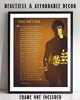 """Rocky Balboa Quotes Wall Art- """"That Ain't You- You're Better Than That""""- 8 x 10"""