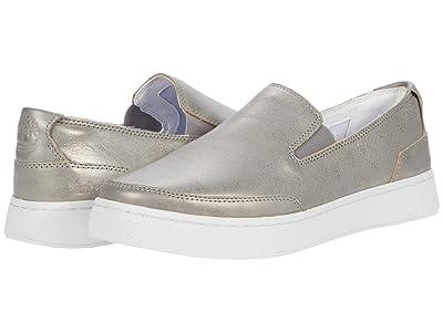 Timberland Atlanta Green Leather Slip-On (Medium Grey Metallic) Women