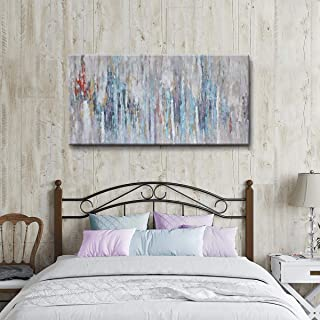 SDYA Large Abstract Canvas Wall Art Hand-Painted Painting Wall Art Decor Framed 60