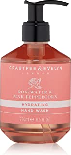 Crabtree & Evelyn Rosewater & Pink Peppercorn Hand Wash, 8.5 Fl Oz