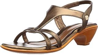 BATA Women's Anjali Gold Fashion Sandals-5 (6618588)