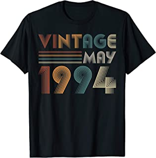Retro Vintage May 1994 T Shirt 25th Birthday Gifts Tee
