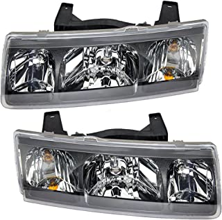 Driver and Passenger Headlights Headlamps Replacement for Saturn 22702945 22702946 AutoAndArt