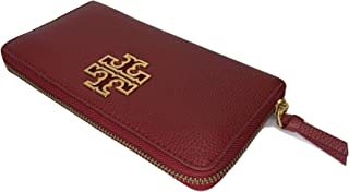 Tory Burch Britten Zip Continental Wallet (Redstone)