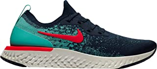 Men's Epic React Flyknit Running Shoes (10.5 M US, College Navy/Hyper Jade/Sail/Red Orbit)