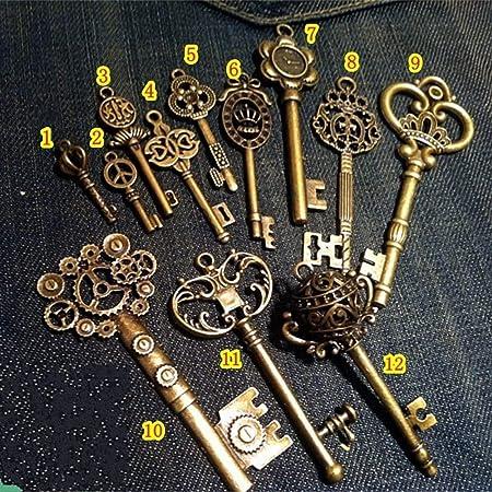 Bronze Retro Style Olympics Judoist Practise Judo Jewelry Vintage Key Pendant Charm Necklaces