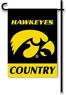 NCAA Iowa Hawkeyes 2-Sided Country Garden Flag, Team Color