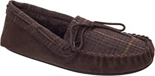 Slumberzzz Mens Tweed Moccasin Slippers