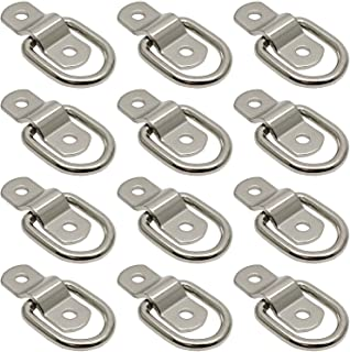Hulless 12 Pcs Steel Ring D Ring Tie Down 1/4