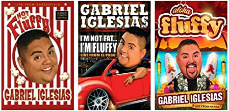 Gabriel Iglesias: Live Stand Up Comedy Specials DVD Collection (Hot and Fluffy / I'm Not Fat… I'm Fluffy / Aloha Fluffy