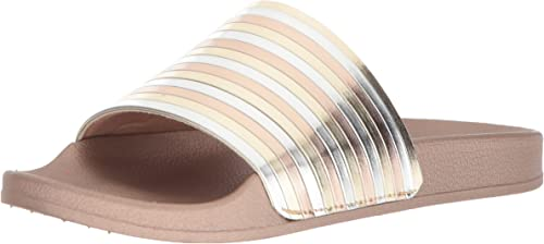 Kenneth Cole REACTION Wohombres Pool Sporty Slide Sandal with Piping Detail, Soft oro, 9 M US