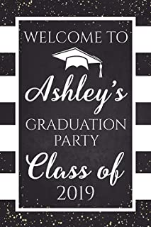 Personalized Graduation Sign, University Graduation Poster, Grad party, Class of 2019, Congratulation Graduation Party Banner, Handmade Party Supply Poster Print, Size 36x24, 18x24