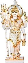 Ardhanarishvara (Shiva-Shakti) - White Marble Statue