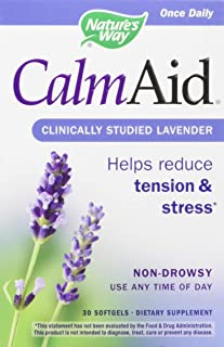 Nature's Way Nature's Way Calmaid, Non-drowsy, Clinically Studied Lavender Supplement Helps Reduce Tension/Stress, 30 Coun...