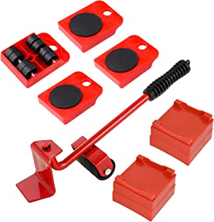 Sponsored Ad – Heavy Duty Furniture Mover Lifter Set of 9, Furniture Slides with Rubber Wheels, Furniture Moving Rollers D...