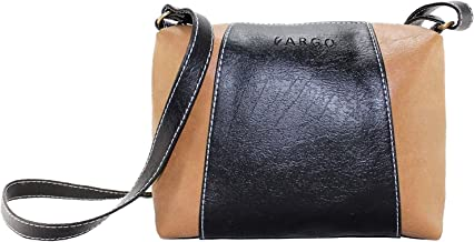 Fargo Motley PU Leather Women's & Girl's Cross Body Side Sling Bag (Black,Beige_FGO-FGO-213)