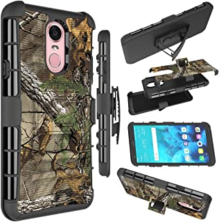 LG Stylo 4 Case, LG Stylo 4 / Stylo 4 Plus/Stylo 4 + Cases, Zoeirc [Heavy Duty] Armor Shock Proof Dual Layer Phone Case Cover with Kickstand & Belt Clip Holster for LG Stylo 4 Plus (camo)