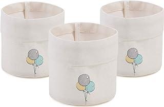 Oceanhome Lot de 3 mini paniers ronds pour garçon