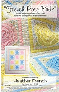 French Roses Buds Baby Infant Quilt Pattern Shabby Chic Design