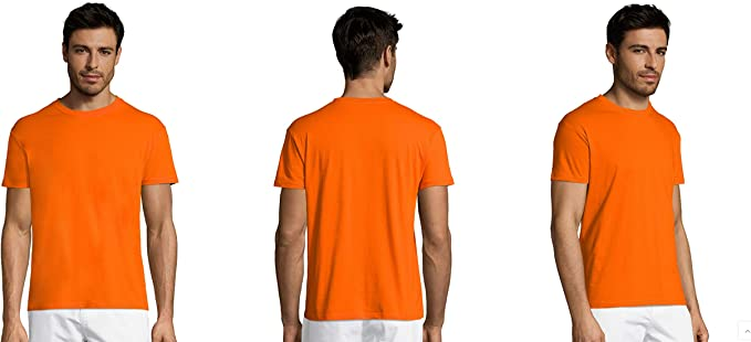 MARNAULA Pack DE 3-5-10-25 -50 o 100 Camisetas Naranja 100 ...