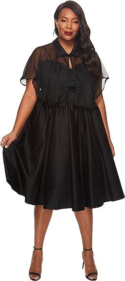 Unique Vintage - Plus Size Luna Swing Dress
