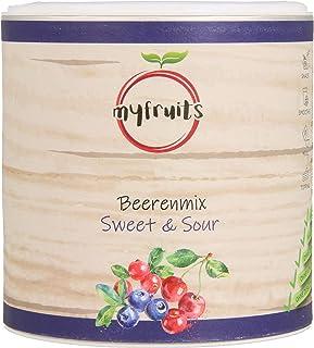 myfruits Beerenmix - Sweet & Sour - Mischung aus gefriergetrockneten Früchten - Ohne Zuckerzusatz - Sauerkirschen - Cranberries - Wildheidelbeeren 100g