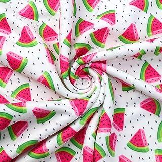 布 生地 150cm×100cm よんーウェイストレッチ素材 生地 手芸 生地 DIY手作り 縫製用品 服 (スイカ)