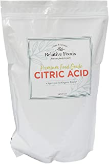 Relative Foods, food grade citric acid, 5 pounds packaged in our allergen free facility, heavy duty stand up pouch with re...