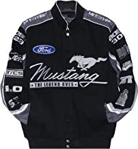 Mustang Racing Cotton Embroidered Jacket Black JH Design Large