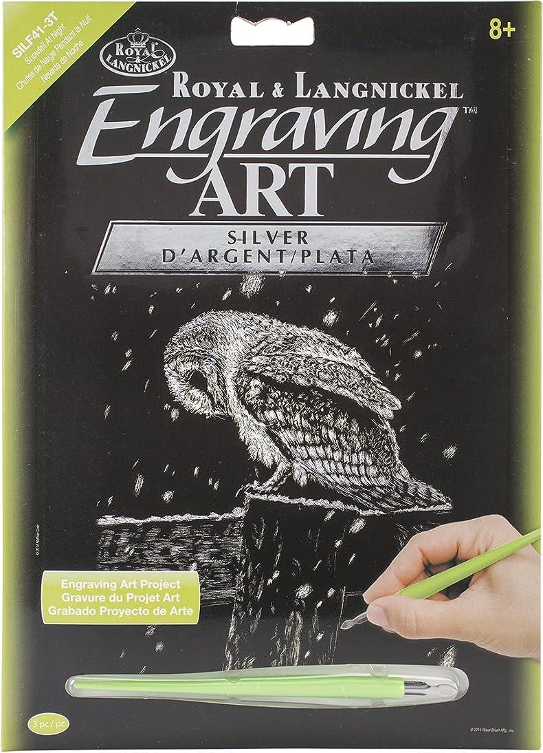 Royal Brush Silver Foil Engraving Art Kit, 8-Inch by 10-Inch, Snowfall at Night