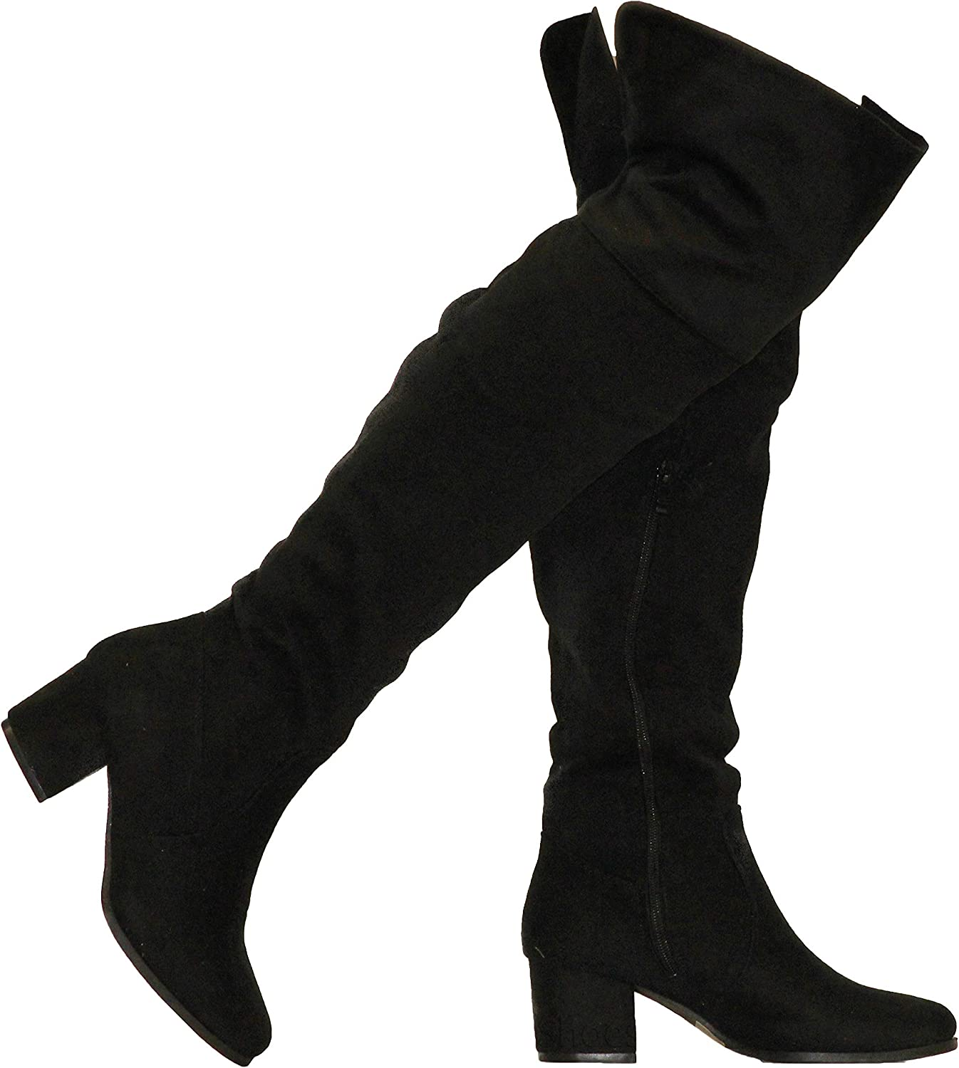 MVE shoes Women's Knee-high Faux Leather - Comfortable Fashion Boots