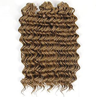 Deep Wave Crochet Hair Twist Synthetic Short Hair Styles for Women Afro Kinky Curly Braiding Hair Extensions(#27)