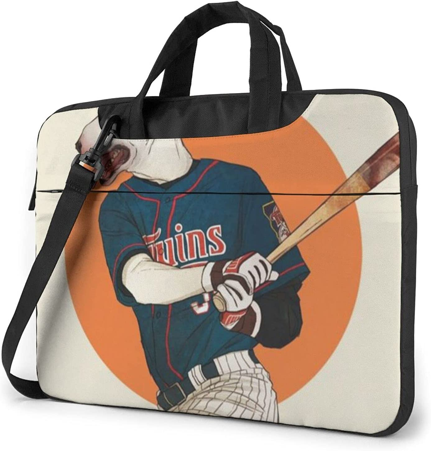 The Dog Plays [Alternative dealer] Baseball Classic Shoulde Genuine Free Shipping Slim Briefcase Crossbody
