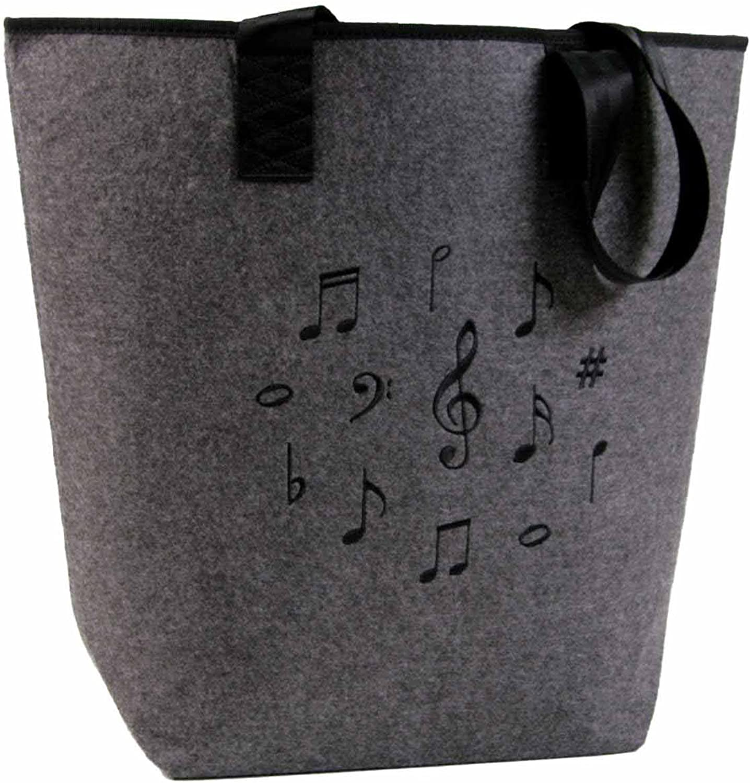 Filztasche mit Motiv Notenmix schwarz B00CDNONP0  Hohe Qualität Qualität Qualität 101e8e
