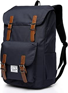 Vaschy Water-resistant Hiking Daypack Travel School Backpack Fits 15.6in Laptop Blue