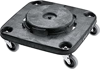 Rubbermaid Commercial BRUTE Trash Can Dolly, Square, Black, FG353000BLA