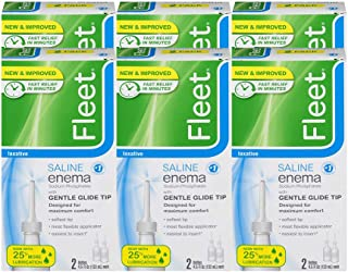 Fleet Laxative Saline Enema   9 oz   Pack of 6   Fast Constipation Relief in Minutes