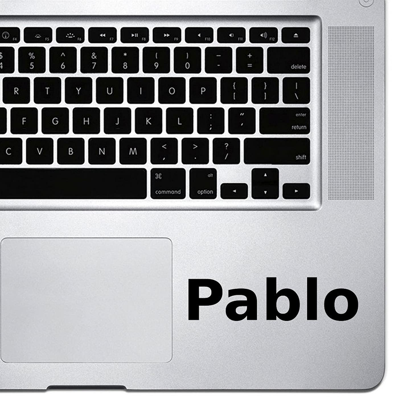 (2x) StickAny Palm Series Pablo Sticker for Macbook Pro, Chromebook, and Laptops (Black)