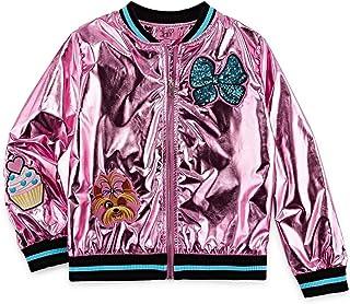 Girls JoJo Siwa Metallic Pink Bomber Jacket
