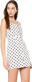 Lioness Women's Chasing Feelings Dress, White Based Polka Dot