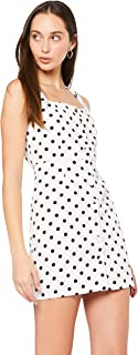 Lioness Women's Chasing Feelings Dress, White Based Polka Dot